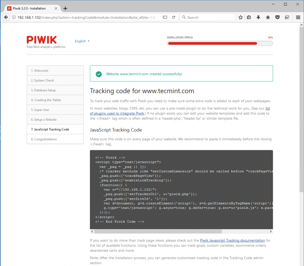 Piwik-Website-Tracking-Code