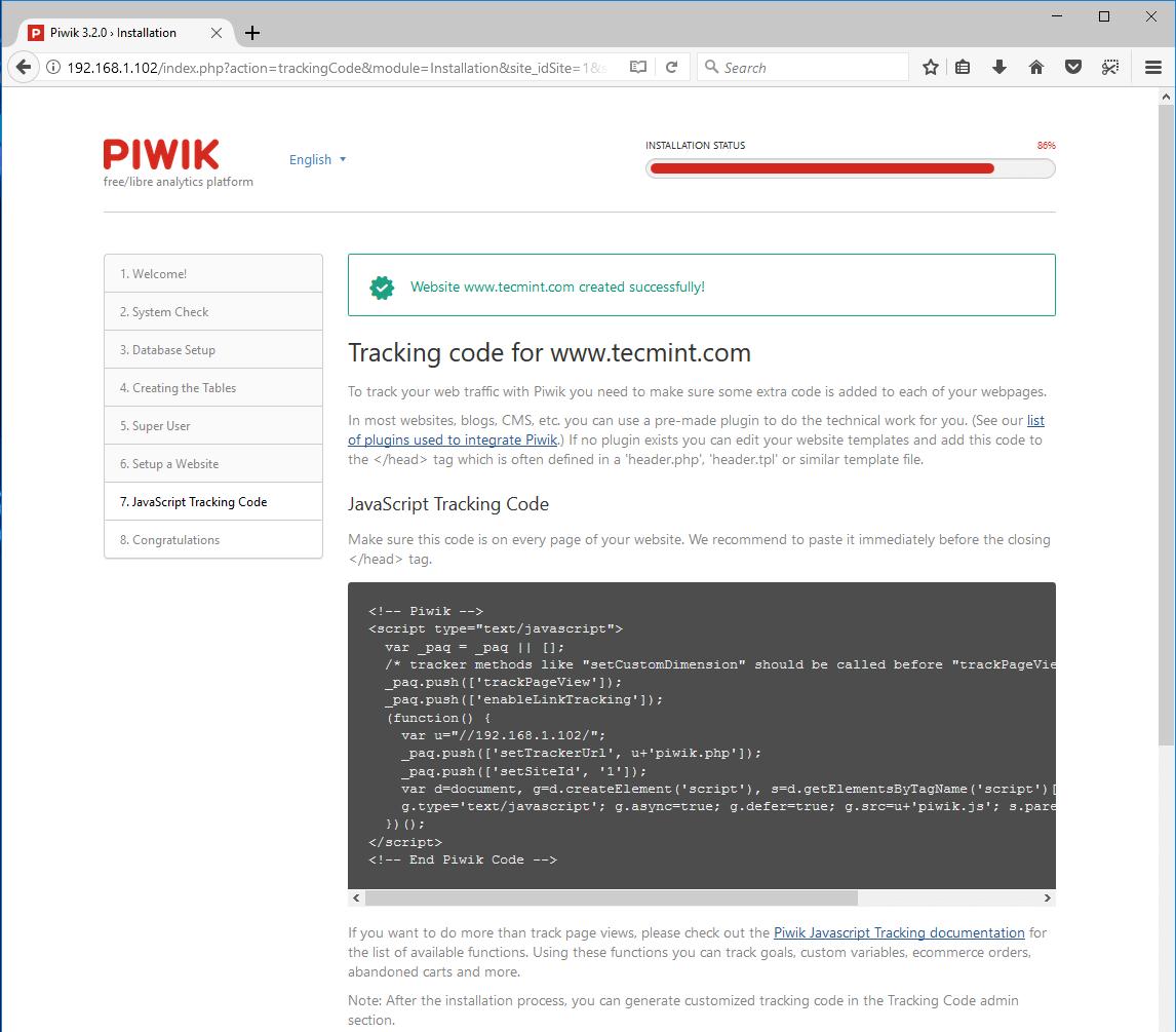 Piwik-Website-Tracking-Code